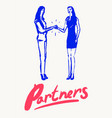 business women shaking hands partnership a vector image