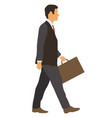 businessman with a briefcase vector image vector image