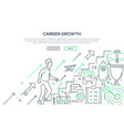 career growth - modern line design style vector image