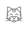 cat pet animal line icon vector image