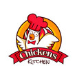 chicken kitchen restaurant logo symbolprint vector image