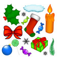 christmas symbol set icon design winter isolated vector image