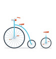 circus bike and unicycle flat style vector image