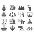 conference meeting icons set isolated on white vector image vector image