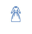 country dress line icon concept country dress vector image vector image