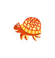 cute turtle funny sea creature hand drawn vector image vector image