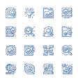 data analytics line icons set vector image