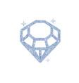 diamond glitter shiny crystal vector image vector image