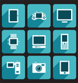 Digital Device Icons Set vector image vector image