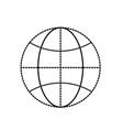 dotted shape global earth planet to network vector image vector image