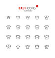 easy icons 33a cloth size vector image