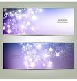 Elegant Christmas background with stars vector image vector image