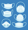 face pollution mask medical masks smog dust vector image
