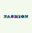 fashion concept word art vector image vector image