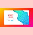 fast food menu landing page vector image vector image