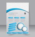 Flyer template Business brochure Editable A4 vector image vector image