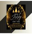 golden sparkles shiny christmas flyer template vector image vector image
