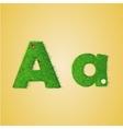 grass letter alphabet vector image
