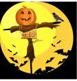 Halloween scarecrow vector image vector image