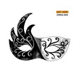hand drawn venetian carnival mask vector image