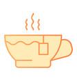 hot tea flat icon mug orange icons in trendy flat vector image vector image
