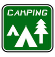 icon camping vector image