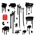 Ink drops Grunge paint Design element set vector image