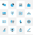 job colorful icons set collection of vector image vector image