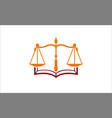 law book logo vector image