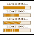 loading bar indicators vector image vector image