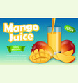 mango banner realistic style vector image