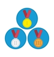 Medal icon set in flat style vector image vector image