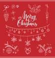merry christmas sketch vector image