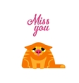 Miss you red cat vector image