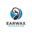 modern logo design ear cleaner vector image