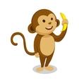 Monkey cartoon minimalistic vector image vector image