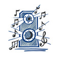 music speaker sketch vector image vector image