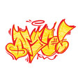 nyc graffiti lettering vector image vector image