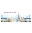 paris france landmarks skyline vector image