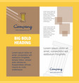 piller company brochure title page design company vector image