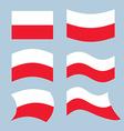 Poland font Polish flag on letters National vector image vector image