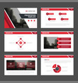 red abstract presentation templates infographic vector image vector image