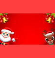 santa claus sales banner design - holiday greeting vector image vector image