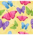 Seamless butterflies background vector image vector image