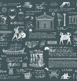 Seamless pattern on the theme of ancient greece