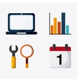 SEO icons technology related vector image vector image