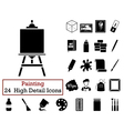 Set of 24 Artist Icons vector image vector image