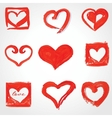 Set of Beautiful greeting vintage Valentines card vector image vector image