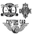 set of car service emblems labels badges logos vector image