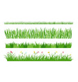 set of different blades and stems for grasses and vector image